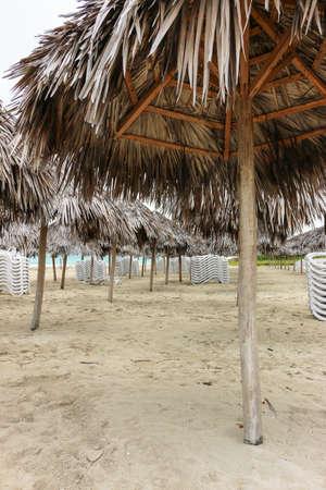 varadero: Morning empty beach, Cuba, Varadero Stock Photo