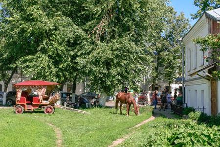 City street, Russia, Suzdal