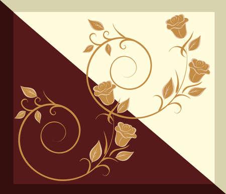 luxo: Ilustração do vetor do padrão na telha - chocolate e baunilha