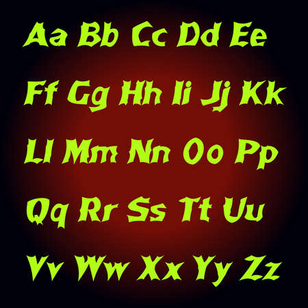 mystic: Alphabet Mystic letters . Vector illustration