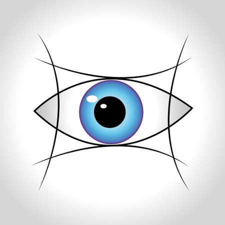 ojo azul: Blue Eye. Ilustraci�n vectorial
