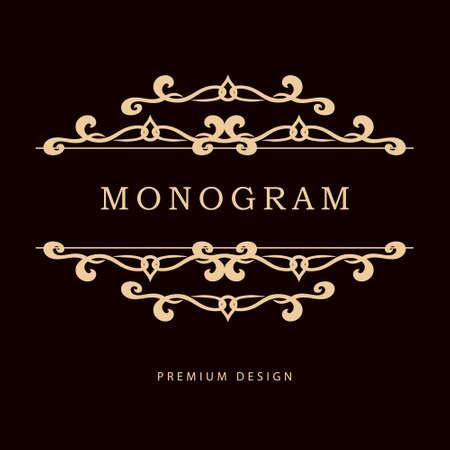 Eenvoudige en sierlijke bloemen monogram design template. Elegante lijntekeningen logo design. Vector illustratie