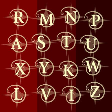 graceful: Monogram design elements, graceful template. Vector illustration