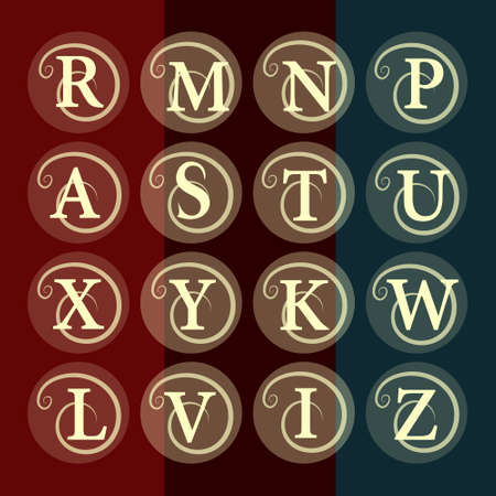 refine: Simple and graceful floral monogram design template. Elegant line art  design.  Vector illustration Illustration