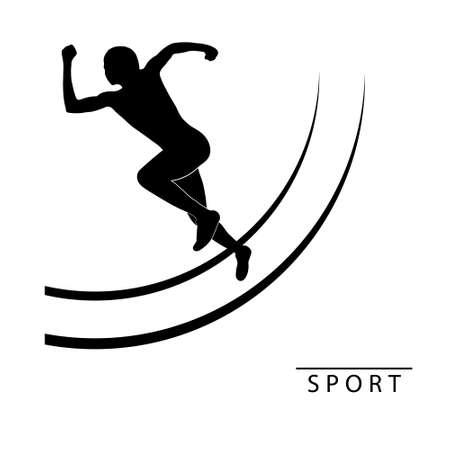 atleta corriendo: Silueta de un atleta corriendo. Ilustraci�n vectorial