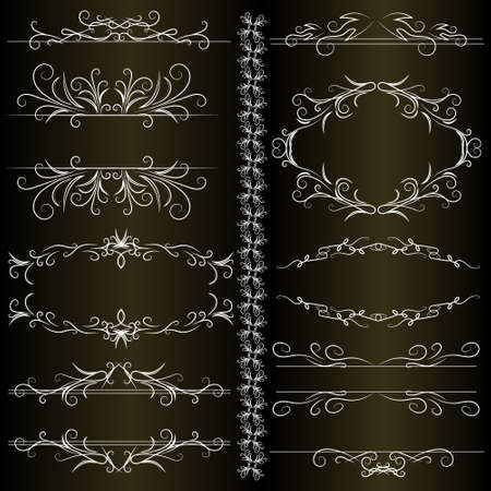calligraphic design: Calligraphic design elements - vector set. Vector illustration Illustration