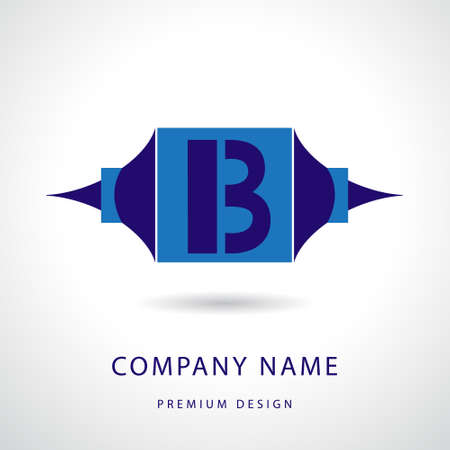 Vector illustration of  Letter B logo icon design template elements Vector