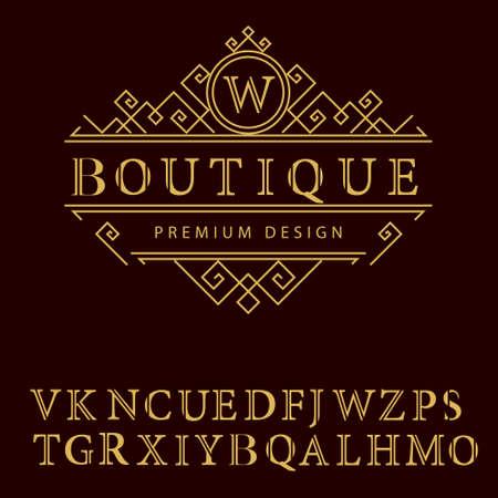Vector illustration of Monogram design elements graceful template. Elegant line art  design. Business sign identity for Restaurant Royalty Boutique Cafe Hotel Heraldic Jewelry Fashion Wine.