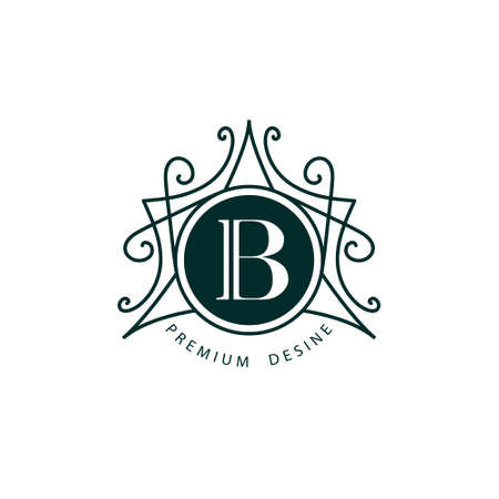 calligraphic design: Vector illustration of Monogram design elements graceful template. Elegant line art design. Business sign identity for Restaurant Royalty Boutique Cafe Hotel Heraldic Jewelry Fashion Wine.