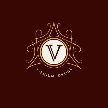 graceful: Vector illustration of Monogram design elements graceful template. Elegant line art logo design. Illustration