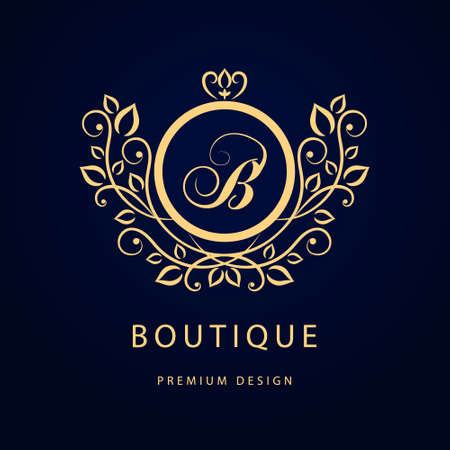 royal background: Vector illustration of Monogram design elements graceful template. Elegant line art logo design. Business sign identity for Restaurant Royalty Boutique Cafe Hotel Heraldic Jewelry Fashion Wine.
