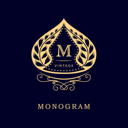 muslim: Vector illustration of Monogram design elements, graceful template. Illustration