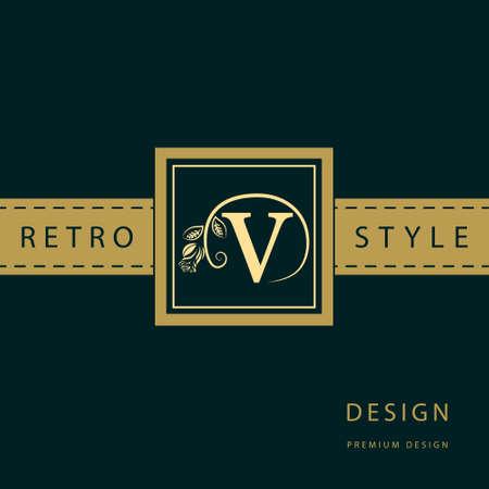 graceful: Vector illustration of Monogram design elements, graceful template.