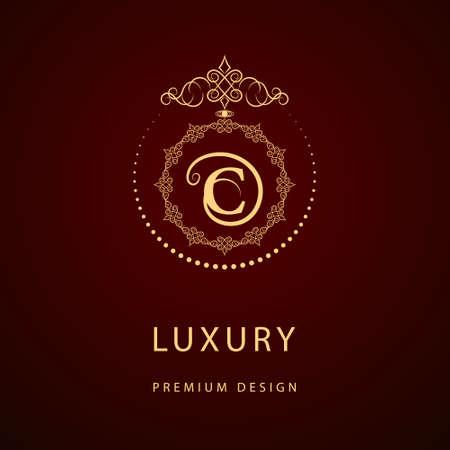 モノグラム デザイン要素、優雅なテンプレートのベクター イラストです。書道の優雅なライン アートのロゴデザイン。ロイヤリティ、ビジネス カ