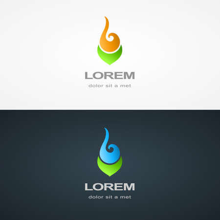 jewelery: Vector illustration of Abstract logo design template. Fashion SPA medicine symbol. Jewelery Cosmetology Pharmacy sign. Business sign, emblem for Sports. crest, Restaurant, Royalty, Boutique brand, Hotel, Real estate
