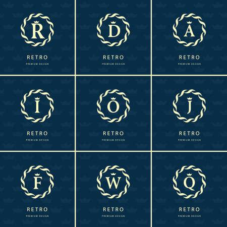 Vector illustratie van het Monogram design elementen, sierlijke sjabloon. Stockfoto - 47994462