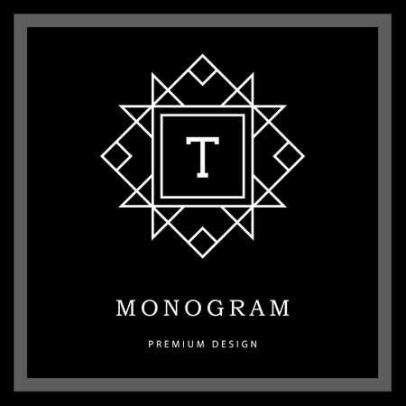 Vector illustratie van Geometrische Monogram logo. Stock Illustratie
