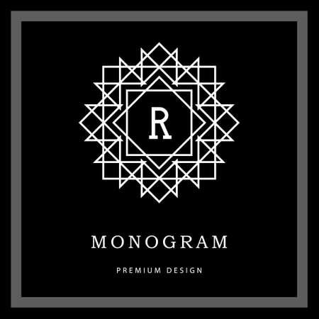 幾何学的なモノグラムのロゴのベクター イラストです。