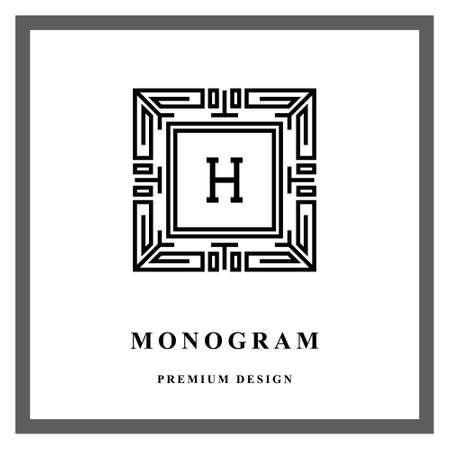 Vectorillustratie van geometrisch Monogram-logo.