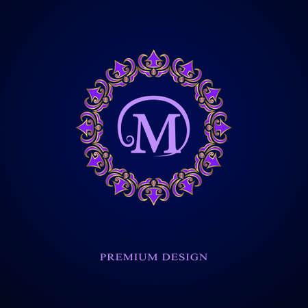 boutique hotel: Ilustración del vector de los elementos del diseño del monograma, elegante plantilla. diseño del logotipo del arte elegante línea caligráfica. Firman carta emblema M de imágenes, tarjetas de visita, Boutique, Hotel, heráldico, Café, joyería