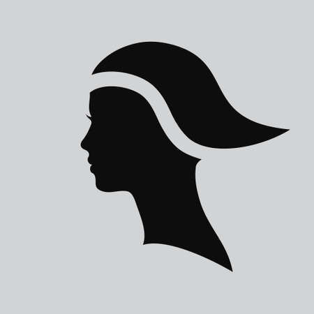 beautiful face: Vector illustration of Woman face. Profile beautiful woman. Portrait of a girl. Abstract design template for beauty salon, massage, cosmetic and spa, hairdresser, international women day