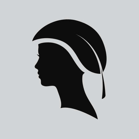 beautiful girl face: Vector illustration of Woman face. Profile beautiful woman. Portrait of a girl. Abstract design template for beauty salon, massage, cosmetic and spa, hairdresser, international women day
