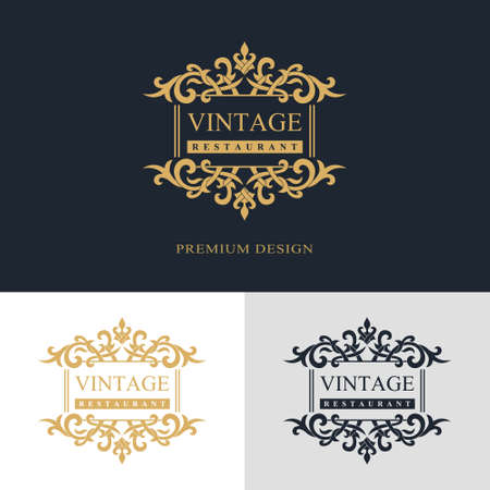 Monogram design elements, graceful template. Calligraphic elegant line art  design. Letter emblem sign for Royalty, business card, Boutique, Hotel, Heraldic, Jewelry. Vector illustration