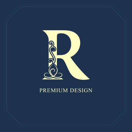 Capital letter R  Calligraphic beautiful icon