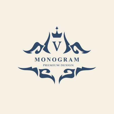 monogram design elements graceful template calligraphic elegant