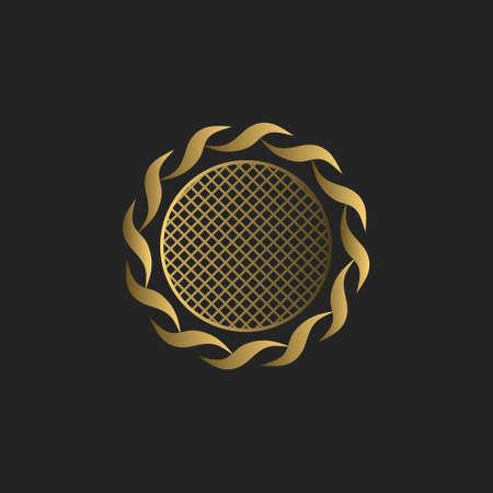 Simple monogram design. Luxury volumetric logo template. 3d line ornament. Elegant frame for Business sign, badge, crest, label, Boutique brand, Hotel, Restaurant, Heraldic. Vector illustration