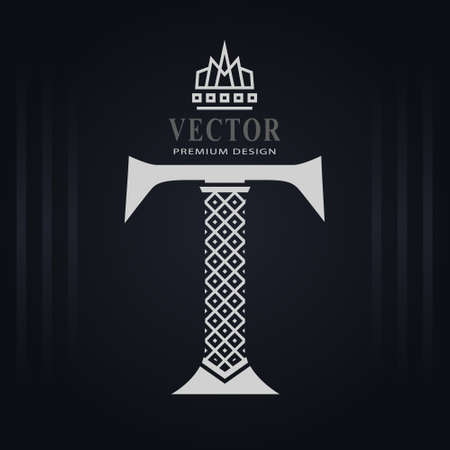 Elegant Capital letter T. Graceful Royal Style. Creative Calligraphic Beautiful Logo. Vintage Drawn Emblem for Book Design, Brand Name, Business Card, Restaurant, Boutique, Hotel. Vector illustration