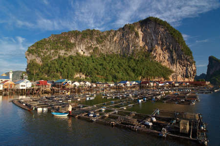 phangnga: Fisherman village at Panyi island, Phang-nga, Thailand