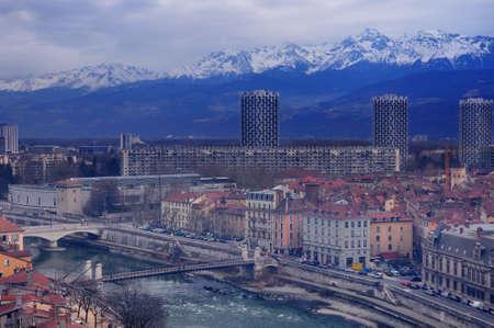 river scape: la Bastille Grenoble