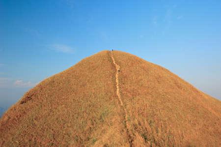 Top view of Mountain, Khao chang puak, Kanchanaburi, Thailand photo