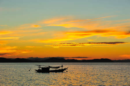 Boat with sunset Stock Photo - 11331767