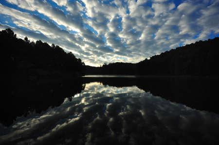 Stunning sky at Pang-ung lake, Maehongson, North Thailand photo
