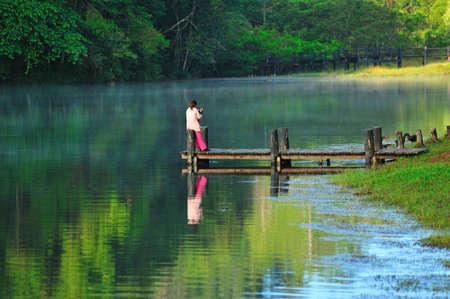 Pang-ung lake, Maehongson, North Thailand photo