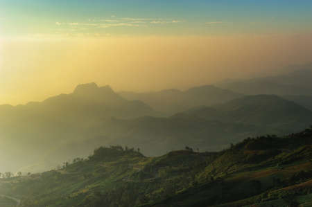 Sunrise from view point of Phutabberk, Phetchaboon,Thailand photo