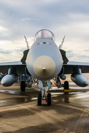 avion de chasse: Avion de combat avant d�tail de la pi�ce Banque d'images