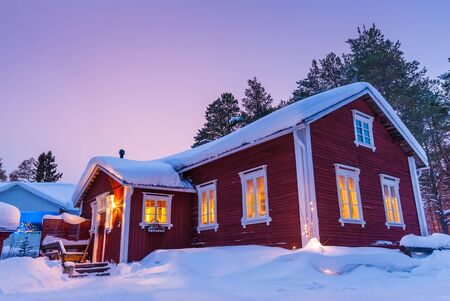 nice house: Nice house During the winter Finnish Editorial