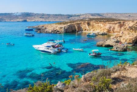Blue Lagoon in Comino Island, Malta Stock Photo - 51280553