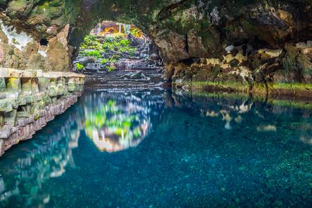 manrique: Beautiful cave in Jameos del Agua, Lanzarote, Canary Islands, Spain