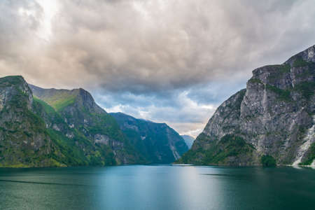 fjords: Nice sunrise in the Norwegian fjords