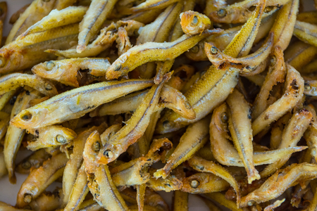 canary: Fried gueldes, traditional food Canary Islands, Spain