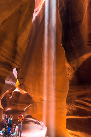 page arizona: Colorful formations in Antelope Canyon, Page, Arizona, Usa