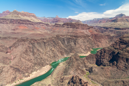 toroweap: View of Colorado river from Plateau Point, Grand Canyon National Park, Arizona, Usa