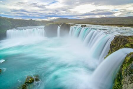 View of amazing Godafoss waterfall in Iceland Stock Photo
