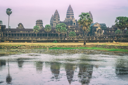 Amazing sunrise in Angkor Wat temple, Siem Reap, Cambodia