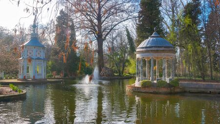 Chinescos Pond in the Gardens of the prince (Jardines del Principe), Aranjuez, Madrid, Spain