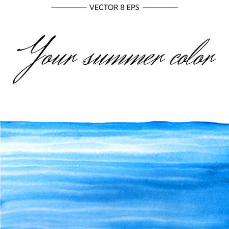 Background with beautiful vector watercolor blot. Isolated on white background hand drawn watercolor blot for postcard, banner, business card and other.